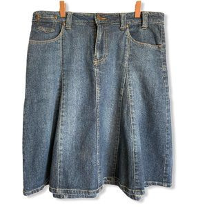 Bill Blass Jeans Women Denim A-Line Flare Skirt